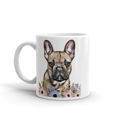French Bulldog Pretty Floral Mug tea coffee mugs Gift #Bulldog