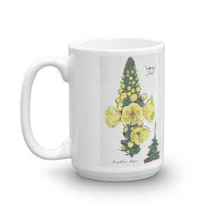 Evening Primrose Mug Vintage Floral illustration Coffee Mugs #EveningPrimrose