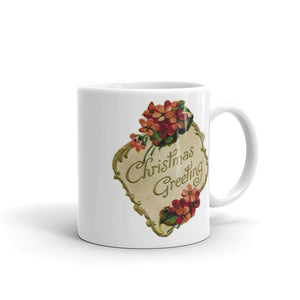 Christmas Greetings Mug Floral Coffee Mugs #Christmas