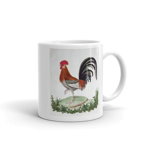 French Cock Bird Mug Vintage Bird Illustration Tea Coffee Mugs Gift #Chicken