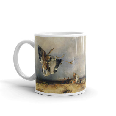 Hawk hunting Heron Mug Vintage Art Illustration Tea Coffee Mugs #Hawk
