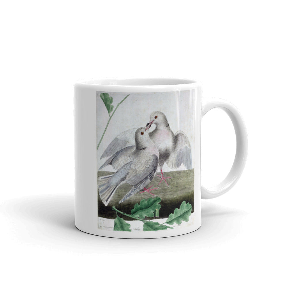 Turtle Dove Bird Mug Vintage Birds Illustration Tea Coffee Mugs Gift #Dove