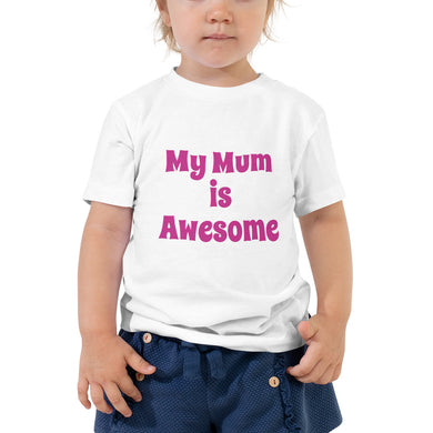 My Mum is Awesome T Shirt Kids Funny Quote Joke  Toddler Short Sleeve Tee #Awesome