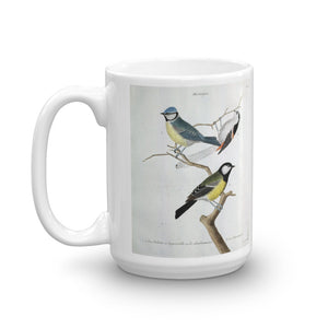 Blue Tit Bird Mug Vintage Birds Illustration Tea Coffee Mugs Gift #BlueTit