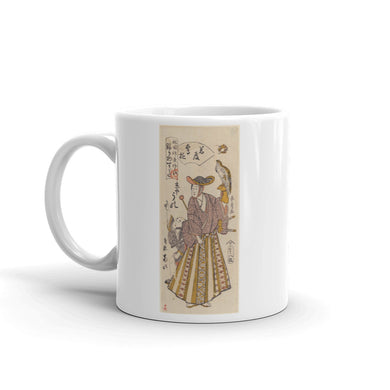 Lord Uno of Kyôya Mug Enjoying Falconry Illustration Tea Coffee Mugs #Falconry