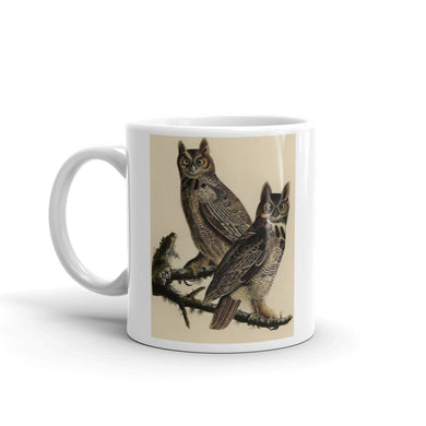 Great Horned Owl Mug Vintage Illustration Tea Coffee Mugs #HornedOwl