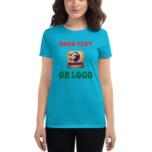 Women's short sleeve t-shirt CUSTOM TEXT LOGO DESIGN YOUR OWN T-Shirt #TShirt