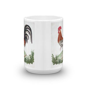 French Cock Bird Mug Chicken Vintage Bird Illustration Tea Coffee Mugs Gift #Chicken