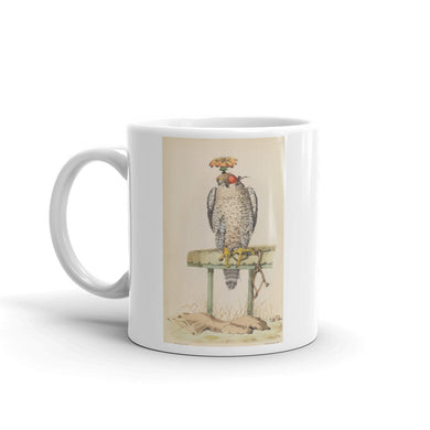 Hooded Goshawk Mug Vintage  Hawk Art Illustration Tea Coffee Mugs #Goshwak