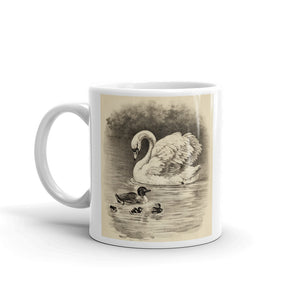 Wild Swan Mug Vintage Bird Illustration Tea Coffee Mugs Gift #Swan