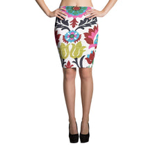 Womens Retro Art Print Pencil Skirt #Skirt