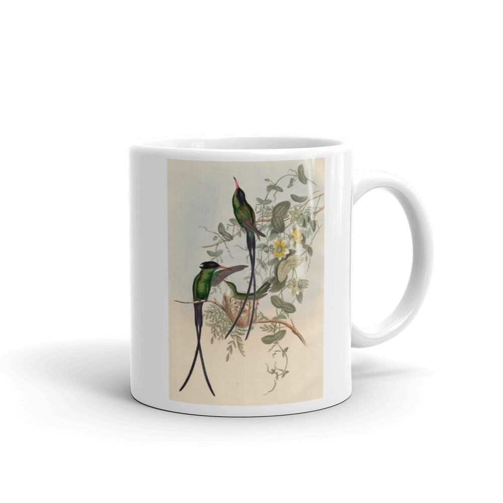 Nightingales Mug Vintage Illustration Tea Coffee Mugs #Nightingale