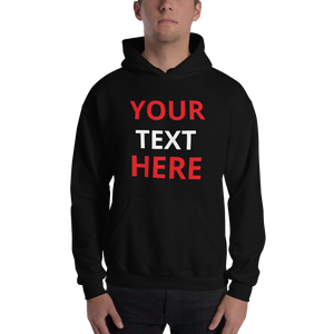 Personalised Hoodie - CUSTOM TEXT DESIGN YOUR OWN Hooded Sweatshirt #Hoodie