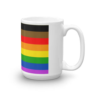 LGBTQ All Inclusive Rainbow Gay Pride Flag Mug Lesbian Gay Bisexual Trans Queer #LGBTQ