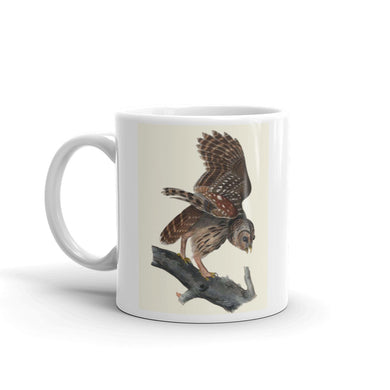 Barred Owl Mug Vintage Illustration Tea Coffee Mugs #BarredOwl