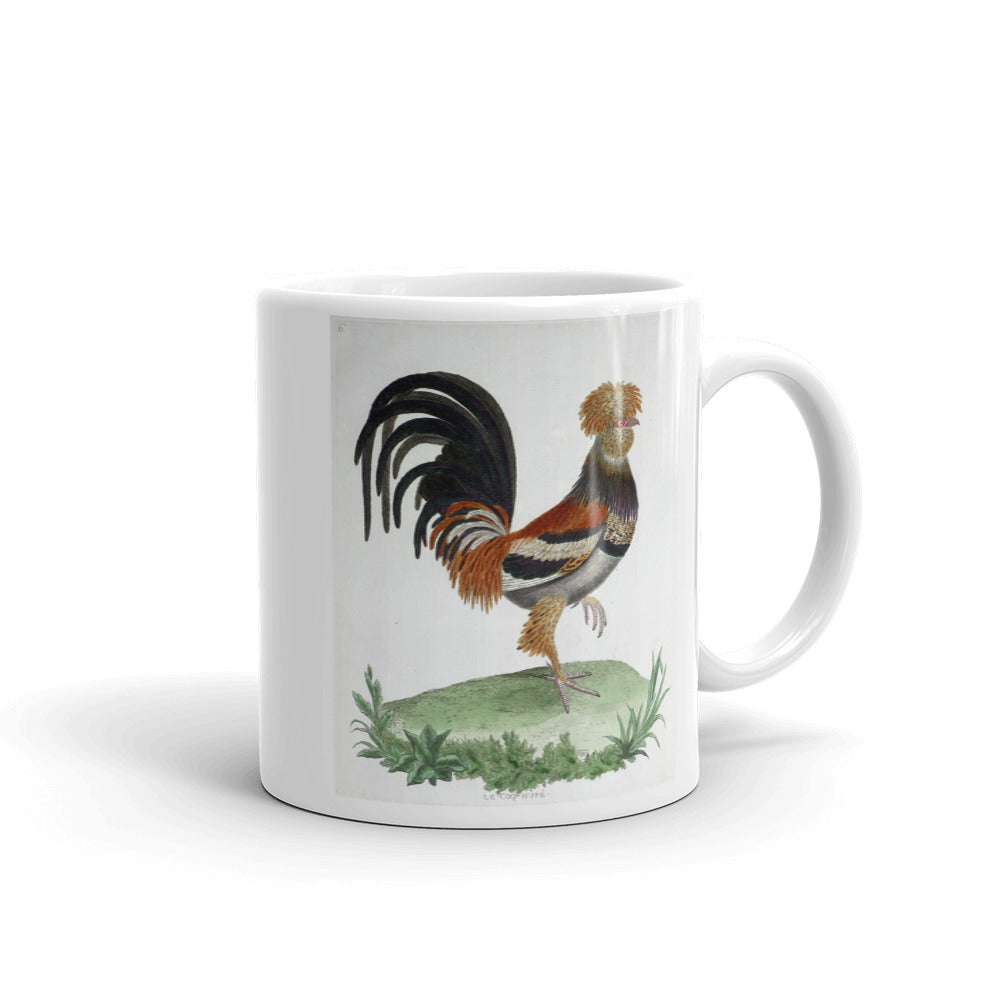 Crested Cock Bird Mug Vintage Birds Illustration Tea Coffee Mugs Gift #Chicken