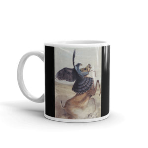 Falcon Hunting Antelope Mug Illustration Tea Coffee Mugs #Falcon
