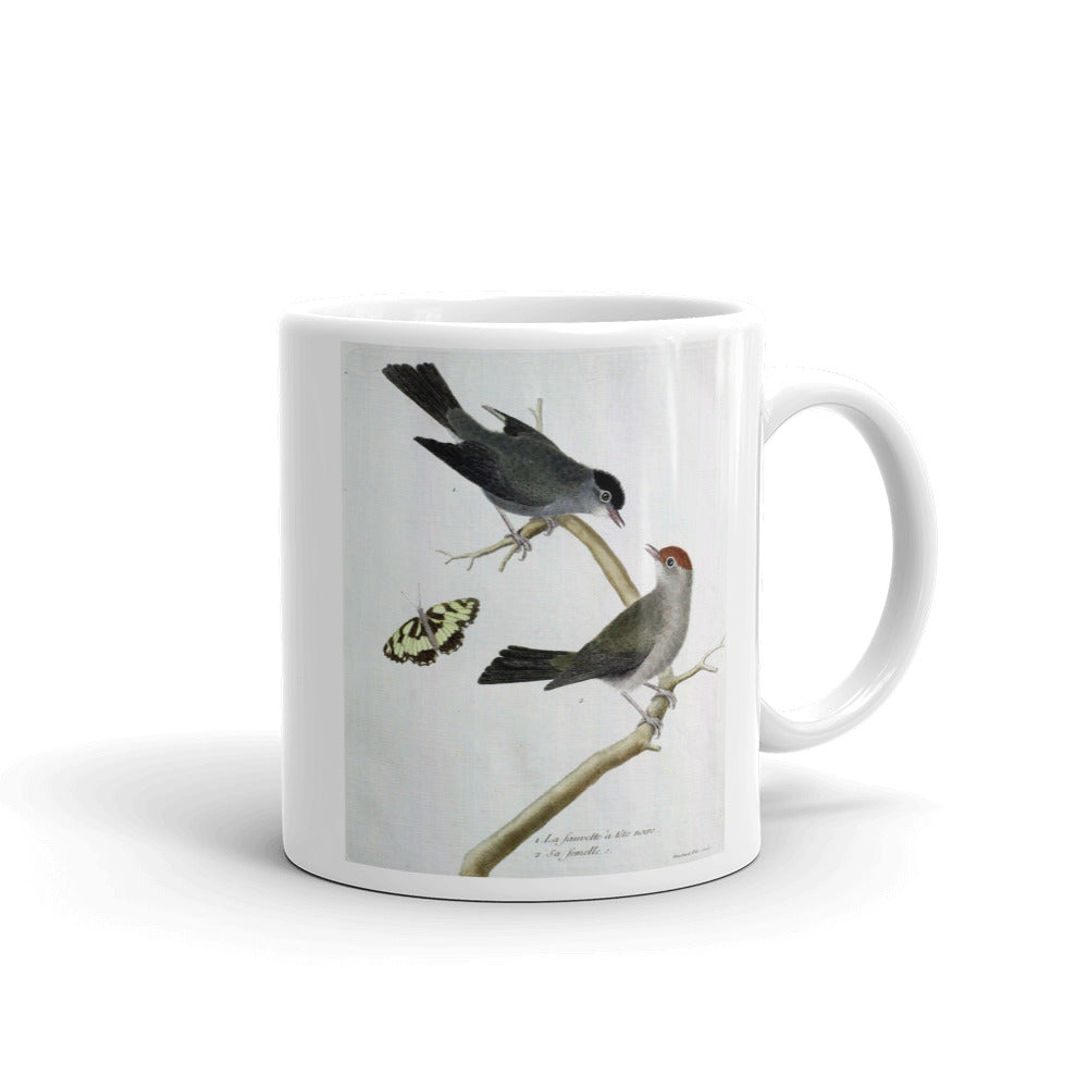 Black Cap Warbler Bird Mug Vintage Birds Illustration Tea Coffee Mugs Gift #Warbler