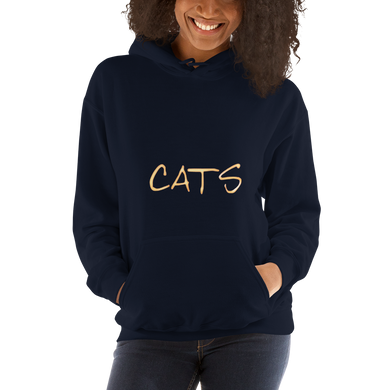 CATS Hoodie Cat Lovers Jumper Unisex Hooded Sweatshirt #Cats