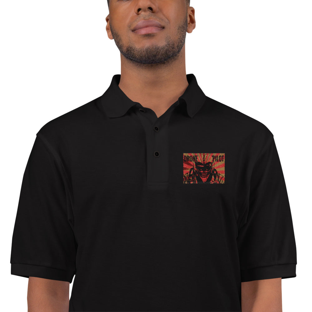 Drone Pilot Anime Embroidered Polo Shirt #Drones