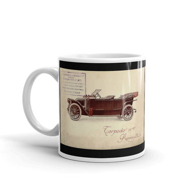 Renault Torpedo Mug Vintage Classic Car Advert Coffee Mugs #Renault