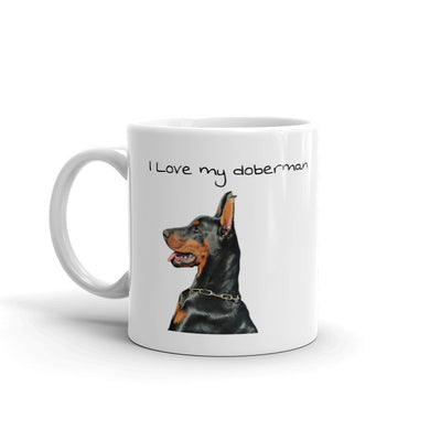 I Love my Doberman Pinscher Mug Tea Coffee Mugs Gift #Doberman