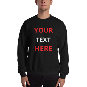 Sweatshirt Personalised - CUSTOM TEXT DESIGN YOUR OWN Jumper #Sweatshirt
