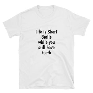 Funny Joke T Shirt Life is short Quote Short-Sleeve Unisex T-Shirt #Tshirt Short-Sleeve Unisex T-Shirt