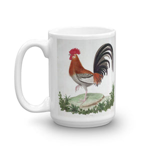 French Cockerel  Mug Vintage Bird Illustration Tea Coffee Mugs Gift #Chicken