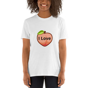 "Funny T Shirt "" I Love Peach "" Joke Quote Short-Sleeve Unisex T-Shirt #Tshirt"