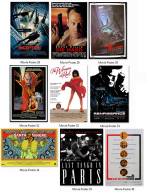 Dolls House Miniature Movie  Advertising Poster Wall Art 1/12 scale
