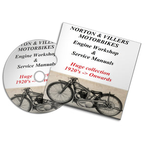 Norton & Villers vintage motorbike motorcycle engine service repair workshop manuals