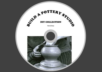 Pottery Studio Build your own kiln , potters treadle DIY plans #pottery