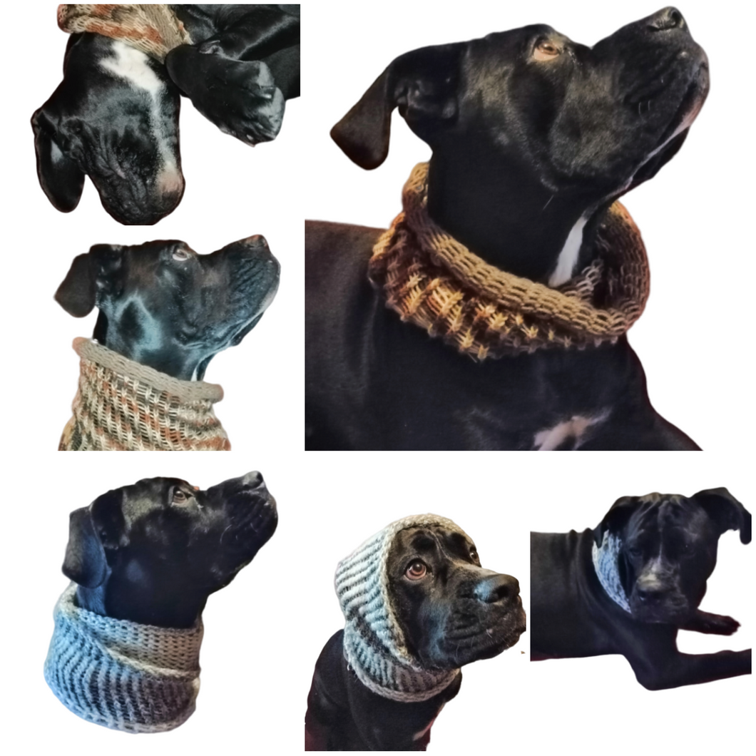 Dog Cowl Scarf Neck Warmer Large and Small Dogs
