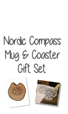 Nordic Compass Mug and Coaster Gift Set Mugs #Viking