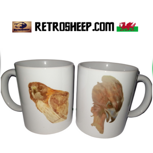 American Red Tailed Buzzard Hawk mugs by Retro Sheep Retrosheep.com