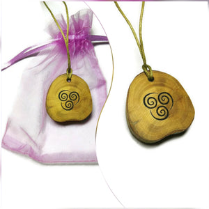 Wind Element Necklace Pendant Wooden Charm Natural Necklace Earrings Keyring Charms #Elements