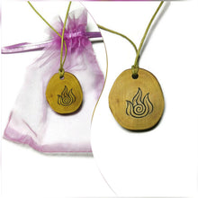 Fire Element Necklace Pendant Wooden Charm Natural Necklace Earrings Keyring Charms #Elements