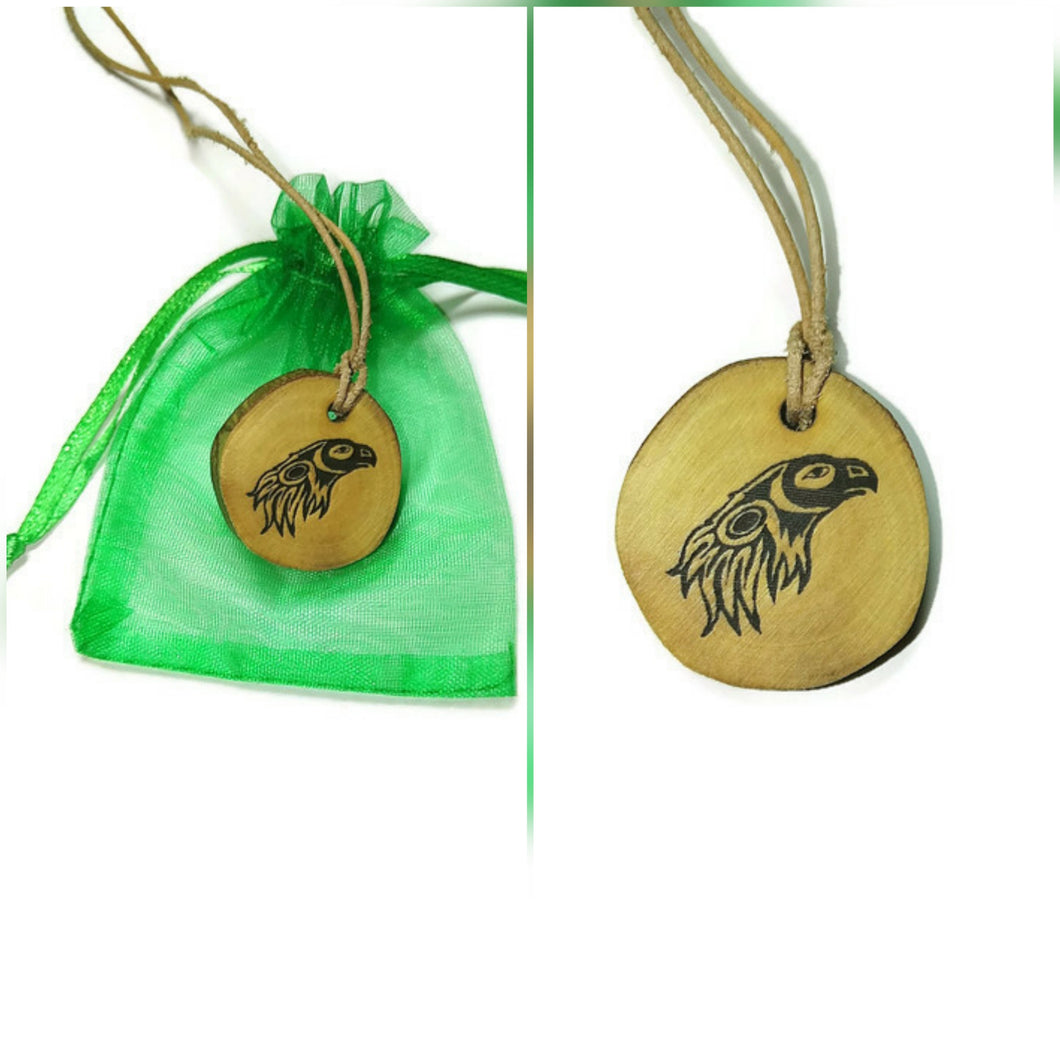 Native American Eagle Bird Necklace Pendant Handmade Wooden Charm Natural Personalised Necklace Earrings Keyring Charms #Eagle