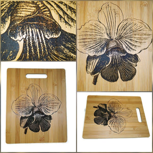 Phalaenopsis Orchid Flower Orchidaceae Chopping Board Serving Platter #Orchid
