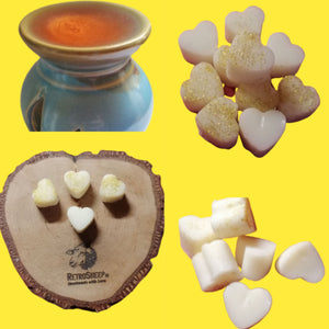 Personalised Highly Scented Soy Wax Tart Melts Mini Hearts for Oil Burners