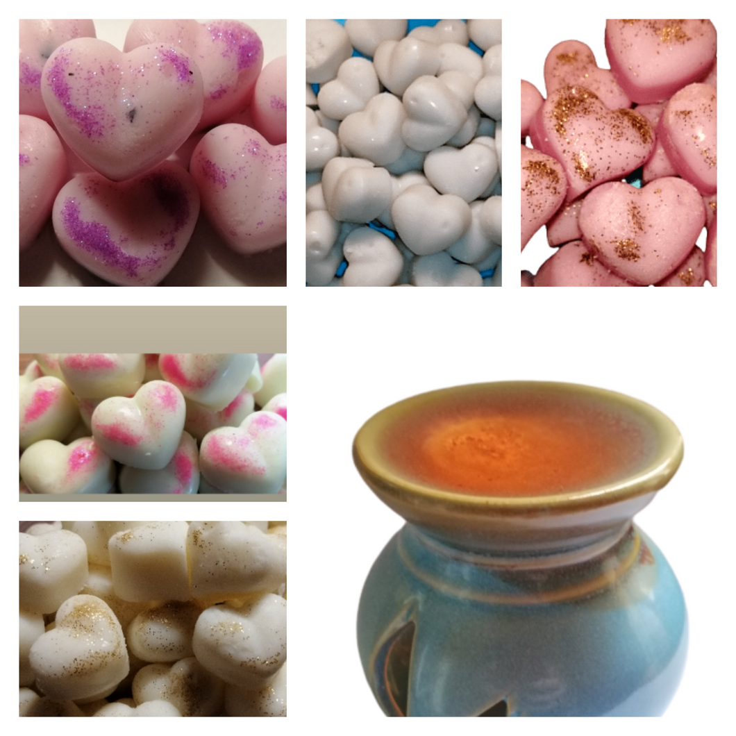 Mixed Soy Wax Scented Candle Tarts Hearts