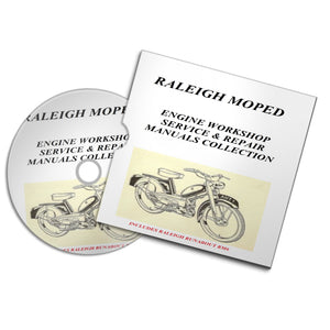 RALEIGH MOPED vintage motorbike motorcycle engine service repair workshop manuals