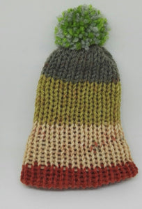 Natural Green Brown Mix Premature Baby Bobble Beanie Hat