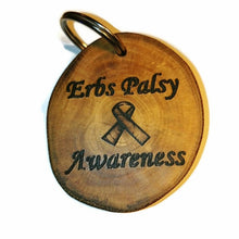 Erbs Palsy Awareness Bespoke Wooden Bag Purse Charm Pendant Handmade #Erbspalsy