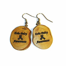 Erbs Palsy Awareness Bespoke Wooden Earrings Handmade  #Erbspalsy