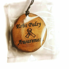 Erbs Palsy Awareness Bespoke Wooden Necklace Pendant Charm Handmade #Erbspalsy