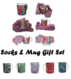 SOCK & MUG GIFT SET Handmade Knitted Socks Casual Novelty Personalised#Socks