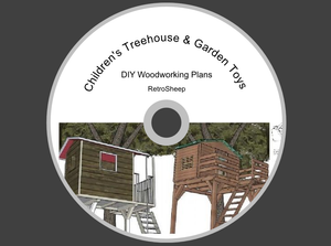 Tree House Plans Childrens Garden Toys DIY How to Build carpentry projects #DIY