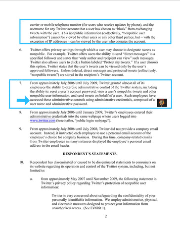 Ftc v twitter consent decree data privacy mad dog pac pages 3 4 paragraph 11 12 publicscrutiny Choice Image